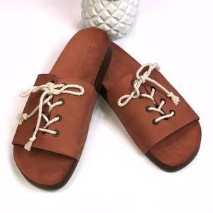 RARE Madewell Lace Up Slides Size 9